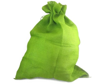 "24x32"" Burlap / Jute Sack; Santa Bag (BS32-xx) Apple Green-good for bags, garden, Great for decorations, urban, primitive, natural, country"