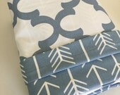 SALE 15% OFF Trendy Bedding Arrow Bedding Duvet Cover in Cashmere Blue  Arrows and Quatrefoil Dorm Twin, Twin and Full / Queen & King