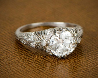 Edwardian Engagement Ring. Circa 1910