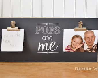 Personalized Gift For Grandparent Picture Frame {POPS AND ME} Custom Photo Frame, Personalized Photo Frame, Wall Frame, Father's Day Gift