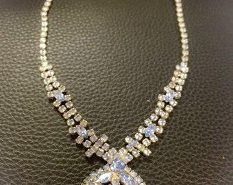 Baby blue Rhinestone necklace