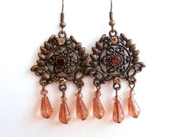 Chandelier Earrings - Repurposed Jewery - Dangle Drop Earrings