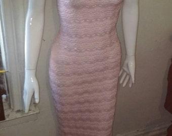 Pink tube dress