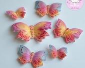 1 dozen Gumpaste Butterfl...