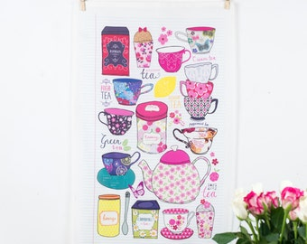 Tea Lover's Oversize Tea towel