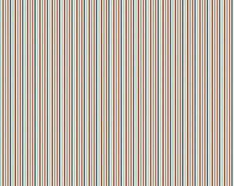 "Sale 15% Off Riley Blake Designs ""Rocket Age"" by October Afternoon. 100 Percent Flannel/ Rocket Stripes Red"