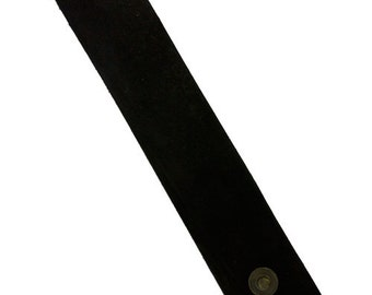 """Leather Cuff Black 1-1/2"""" Wide with 2 Snaps (LE2020)"""