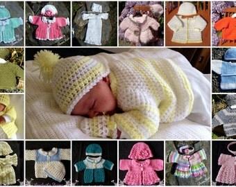 Crochet baby layette set