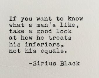 Harry Potter Quote (Sirius Black) Typed on Typewriter - 4x6 White Cardstock
