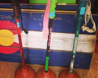 Ski Pole Plungers- 3 pack