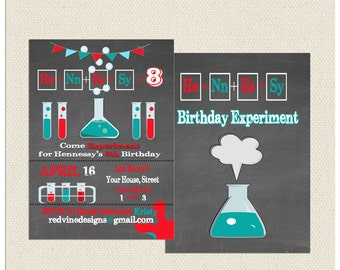 Mad Science Birthday Invitation
