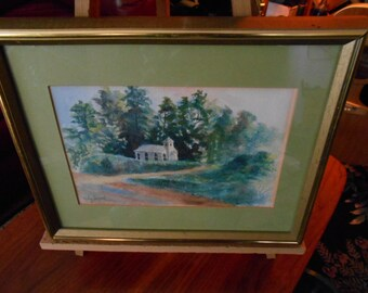 Vintage  Ruby Fayard  Listed Artist Watercolor Historic New Orleans Collections Artist
