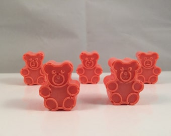 Gummy Bear Soaps / Teddy Bear Soaps / Mini Guest Soap / Natural Soap / 2 oz Soap / Goat Milk Soap / Wedding Favor / Shower Favor / Set of 8