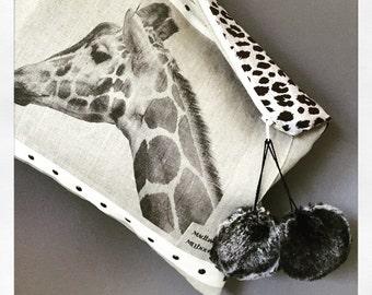 Madbagss Giraffe Print Clutch