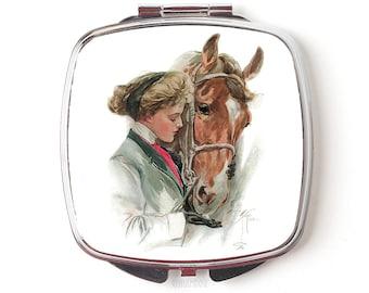 Horse Compact Mirror - Horse Gift - Compact Mirror