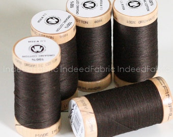 Mahogany, Scanfil Organic Cotton Thread, 300 Yards, Color #4830