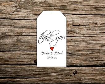 Custom Wedding Favor Tags, Personalized Favor Tags, Destination Wedding Favor Tags