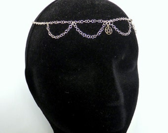 Pentacle Headpiece made with sterling silver. Wiccan circlet by Muse Suite