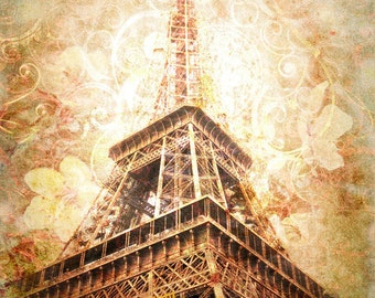 Eiffel Tower Print  in Neutral Tones,  Eiffel Tower Decor, Eiffel Tower Art Print, neutral bedroom decor