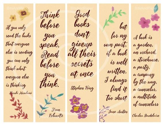 Top Segnalibri stampabili stile acquerello con frasi sulla XE02