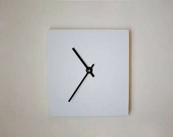 Reclaimed Wood Wall Clock- White