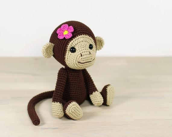 Monkey Amigurumi Knitting Pattern : PATTERN: Monkey 4-way jointed amigurumi monkey Crochet