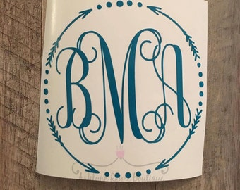 Decal- Arrow Monogram Decal- Monogram Decal- Arrow Decal- Yeti Decal- Yeti- Circle Decal