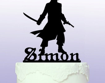 Personalised Pirate Captain Cake Topper