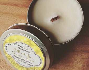 Wooden Wick Soy Candle {FOUNTAIN OF YOUTH} ~ New release High Quality Scent Oil {Best Selling Collection}