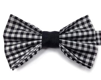 Black Gingham Bow Tie, Kids Bow Tie, Boys Bow Tie, Childrens Bow Tie, Page Boy Bow Tie, Toddler Bow Tie, Birthday Bow Tie, Wedding Bow Tie