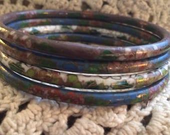 Cloisonné Bangle Bracelets