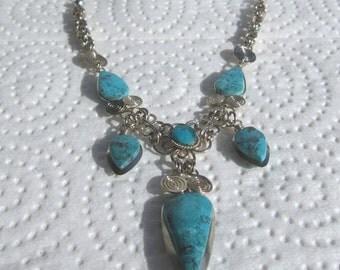 Peruvian Chrysacolla Stone Necklace #49
