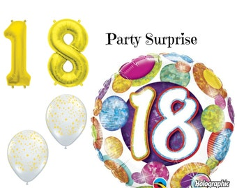 18th Birthday Balloons 18th Birthday Party Decoration Balloons Gold 18 Balloons