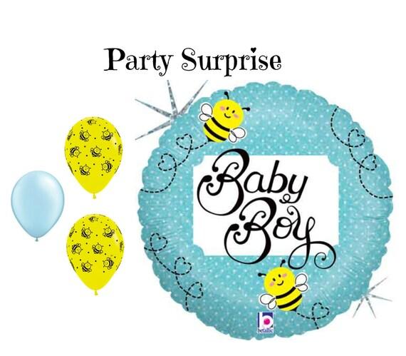 Baby Boy Bumblebee Balloons Boy Baby Shower New Baby Boy Bumblebee