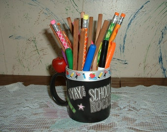 Teacher's Coffee Cup, Filled with useful Tools