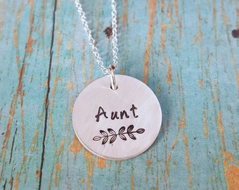 Aunt Necklace- Aunt -Gift for Aunt - Favorite Aunt - Auntie - Tia - Gift for Her - Cool Aunt -Aunty -Aunt Gift - Aunt Jewelry - Special Aunt