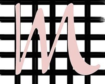 Grid Monogram Wall Print