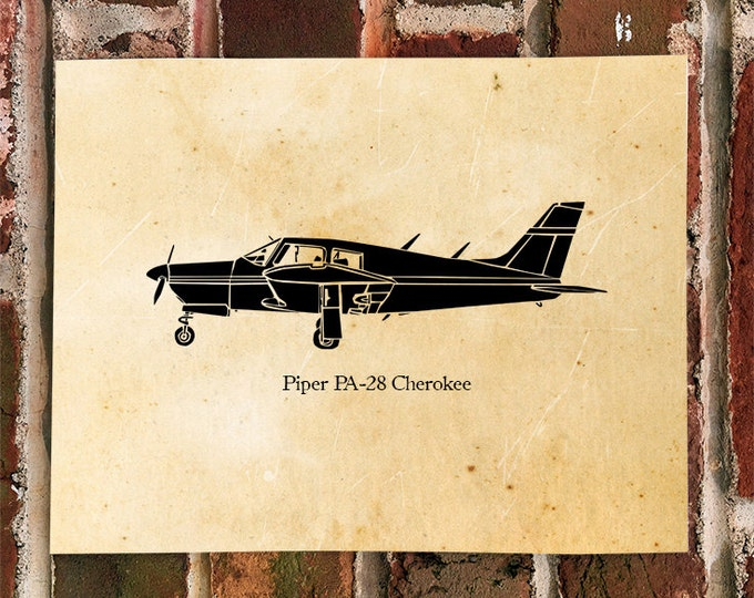 "KillerBeeMoto: Limited Print Piper PA-28 Cherokee ""Arrow"" Airplane Print 1 of 100"