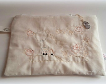 Baby embroidered pouch