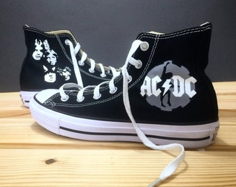 ACDC Handpainted Converse All Star Shoes