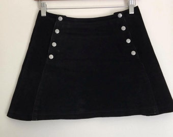 ATELIER VERSACE suede mini skirt / small