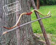 "Asiatic Style Horse Bow - Woodgrain W/ Accents 35# @ 28"" Draw Perfect For Mounted Archery - Horsebow"
