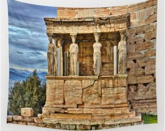 Parthenon Athens Greece Wall Tapestry, Athens Wall Art, Greece Photo Tapestry, Living Room Wall Art, Travel Art, Dorm, Home Decor