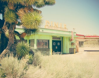 Desert Diner Photography, Americana Photography, Desert, Diner, Large Wall Art, Home Decor, Fine Art Photography