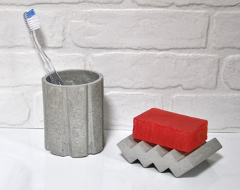 SOAP dish of concrete - cement | industrial decoration | Industrial bathroom | Accessory bathroom | Modern bathroom | industrial loft | Industrial chic