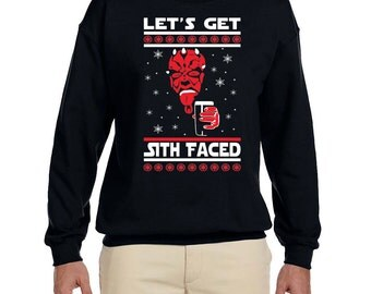 Let's get Sith Faced Men's Crew Neck Sweater