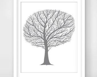 30% OFF SALE Tree Print,Tree Art,Tree Wall Art,Tree Silhouette,Winter Tree,Bare Tree,Leafless Tree,Winter Print,Winter Art,Tree Silhouette