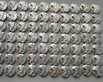 "6/8"" . Set of 70 Similar  Vintage Soviet Watch movements , steampunk parts"
