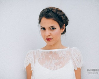 Bridal cape lace  Made in France - KATLYN