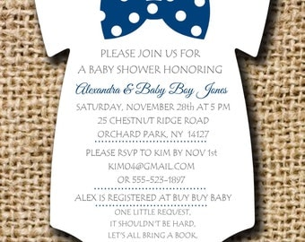 Onesie Baby Shower Invitations Etsy